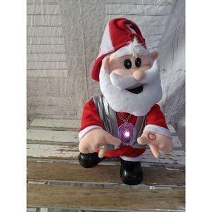 Gemmy Santa rapper getting jiggy with it animated